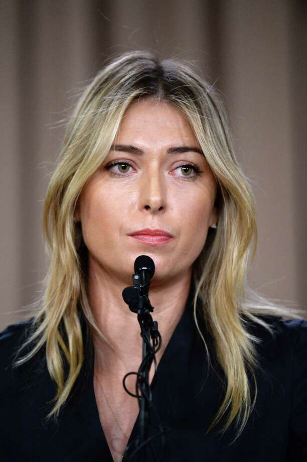 (FILE PHOTO) Maria Sharapova's drugs ban has been reduced to 15 months following her appeal to the Court of Arbitration for Sport. LOS ANGELES, CA - MARCH 7: Tennis player Maria Sharapova addresses the media regarding a failed drug test at the Australian Open at The LA Hotel Downtown on March 7, 2016 in Los Angeles, California. Sharapova, a five-time major champion, is currently the 7th ranked player on the WTA tour. Sharapova, withdrew from this week's BNP Paribas Open at Indian Wells due to injury. (Photo by Kevork Djansezian/Getty Images) ORG XMIT: 608830867 Photo: Kevork Djansezian / 2016 Getty Images