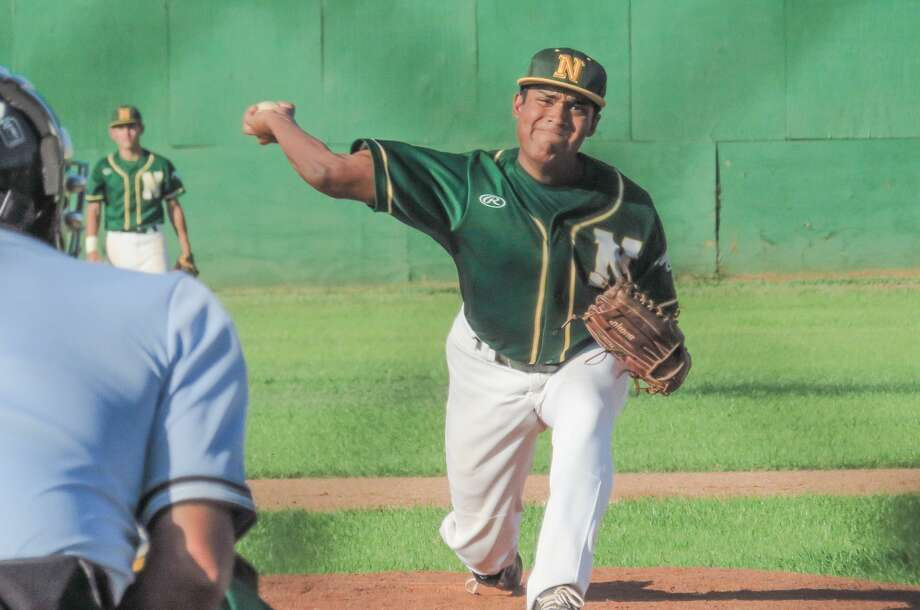 Nixon's Caleb Muniz and the Mustnags — who were missing four regular starters for undisclosed reasons — fell to Rio Grande City 10-3 on Tuesday night at Veterans Field. Photo: Danny Zaragoza /Laredo Morning Times / Laredo Morning Times