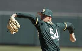 FILE - In this Tuesday, March 7, 2017, file photo, Oakland Athletics' Sonny Gray throws during the first inning of a spring training baseball game against the Arizona Diamondbacks in Scottsdale, Ariz. Ace right-hander Gray had high hopes for a fast start after the frustration of last season. Now, he's hurt again and will begin the season on the disabled list. (AP Photo/Darron Cummings, File)