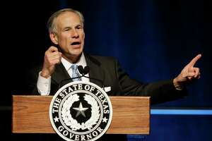 Texas Governor Greg Abbott gives a State of State speech at the Greater Houston Partnership event Hilton Americas,  1600 Lamar St., Tuesday, April 18, 2017, in Houston.