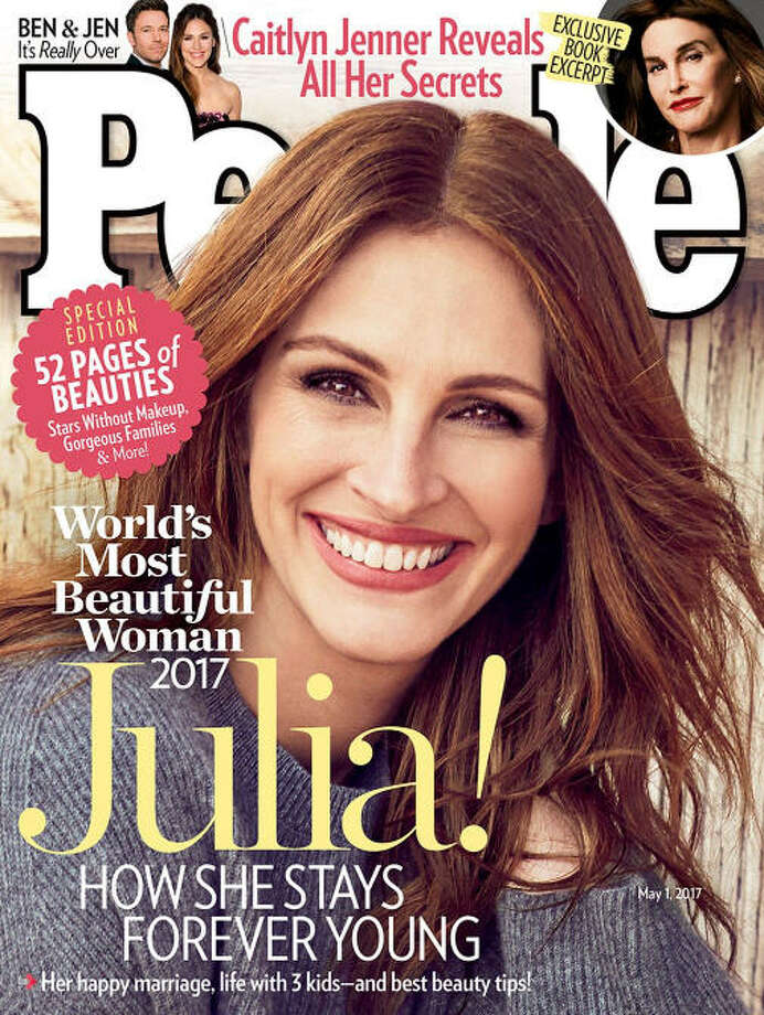 "Julia Roberts has been named the World's Most Beautiful Woman a record fifth time by People magazine.>>SEE WHAT OTHER TIMELESS BEAUTY'S PEOPLE HAS CHOSEN AS PAST WINNERS OF ""WORLD'S MOST BEAUTIFUL WOMAN"" ... Photo: People"