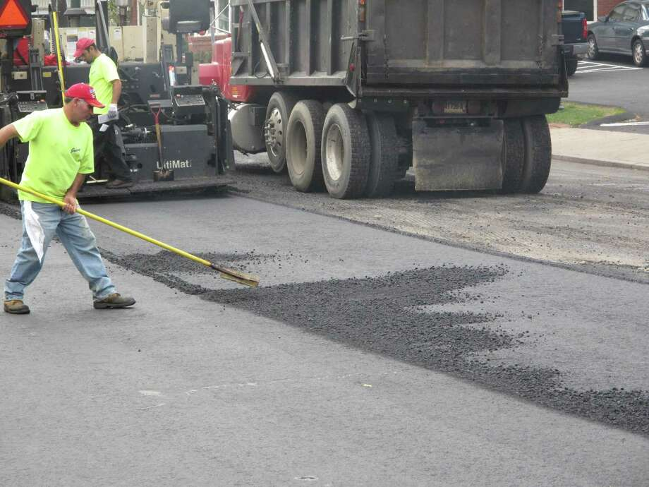 The milling and paving of Cherry Street was done several years ago in New Canaan. Photo: File Photo / New Canaan News