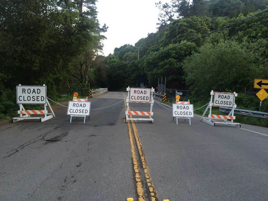 Moraga officials shut down the Canyon Road bridge Tuesday night after the season's rainy weather caused structural damage to the bridge.