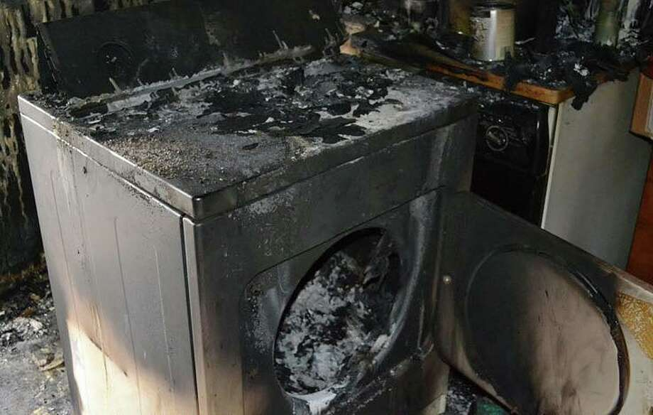 Photo of a dryer that caught fire. SLIDESHOW: Most common fire calls from the Houston Fire Department Photo: Fort Bend County Fire Marshal