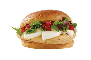 Wendy's Fresh Mozzarella Chicken Sandwich is served on a brioche bun.