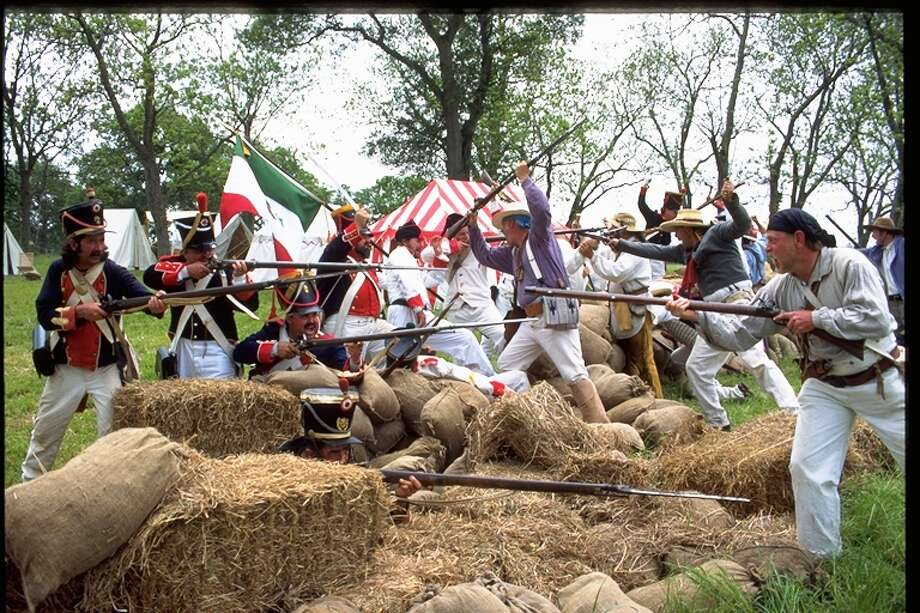 Saturday's battle reenactment at the annual San Jacinto Day Festival in La Porte is one of the largest in the state, and the event includes a variety of historical demonstrations.
