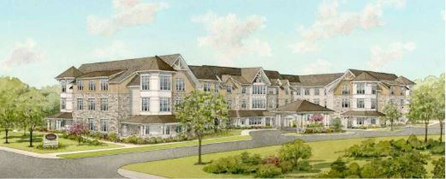 Senior Living Development, LLC, of Fairfield, applied to the land use commission last week for approval of a 90-unit assisted living and memory care community at the Young's Nursery property at the corner of Danbury Road and Orem's Lane. Photo: Contributed Rendering