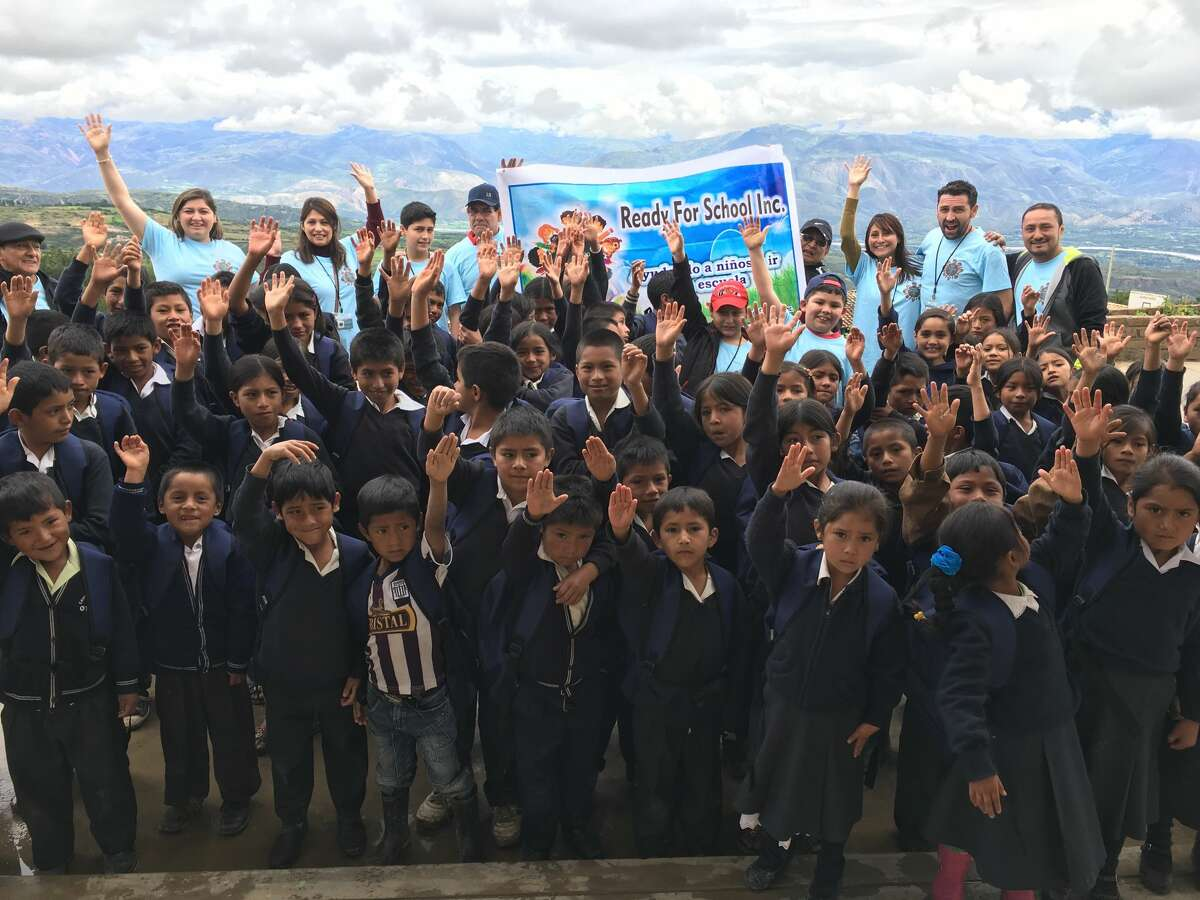 Ready for School, Inc volunteers joined four students from Norwalk and Stamford on a mission trip to donate backpacks, shoes and clothing to disadvantaged children in Peru on April 10, 2017.