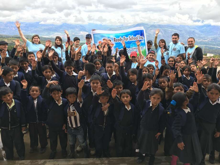 Ready for School, Inc volunteers joined four students from Norwalk and Stamford on a mission trip to donate backpacks, shoes and clothing to disadvantaged children in Peru on April 10, 2017. Photo: Contributed/ Ready For School Inc