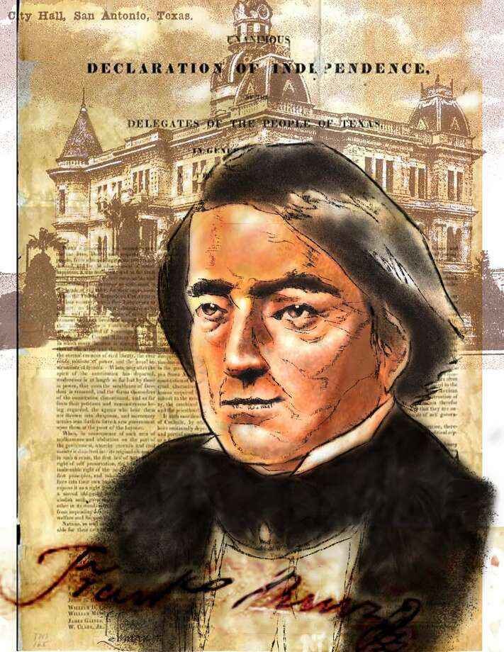 Jose Francisco Ruiz was an educator, appointed schoolmaster of San Antonio in 1803. His school, located on what is now Military Plaza, was rebuilt and relocated to the Witte Museum.  He also fought with the Texas army, and he and his nephew, José Antonio Navarro, were the only Tejanos among the 59 men to sign the Texas Declaration of Independence. Photo: Courtesy Of TexasTejano.com