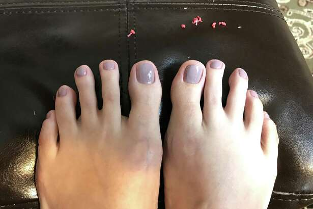 After you peel off Pueen Latex Tape Peel Off Cuticle Guard, your nail polish stays, but all your goofs go. The the little red balls are the peeled-off latex.