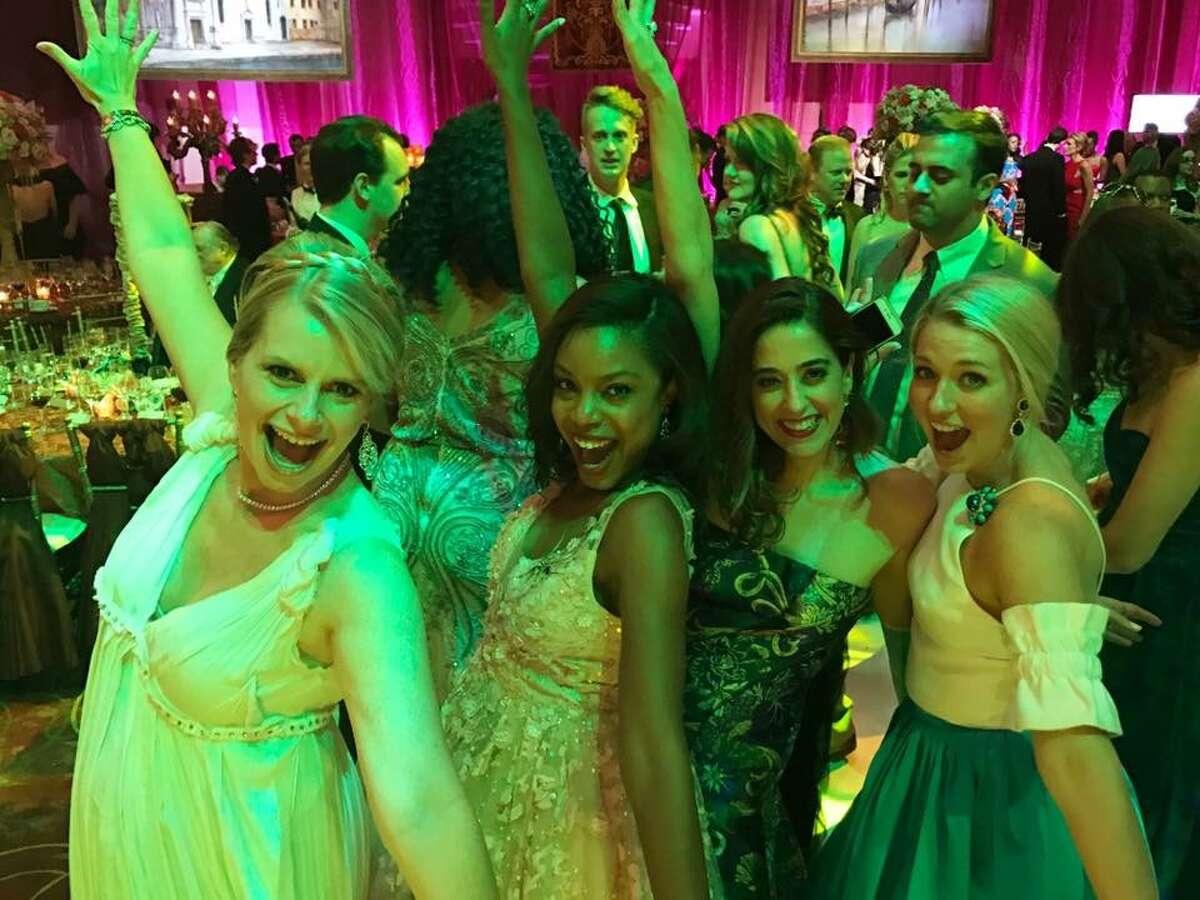 Valerie Dieterich, Amber Elliott, Kristina Somerville, and Christina Stith at Houston Grand Opera Ball 2017.