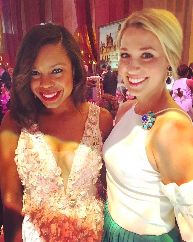 Amber Elliott and Christina Stith at Houston Grand Opera Ball 2017.