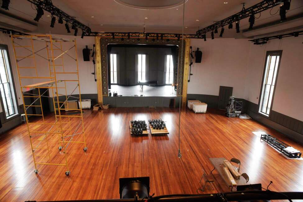 A view of the Upstairs Performance Hall inside the newly renovated Hudson Hall on Tuesday, April 4, 2017, in Hudson, N.Y. (Paul Buckowski / Times Union)