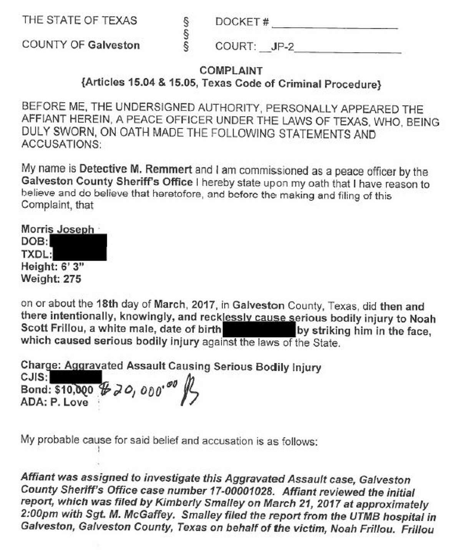 Affidavit: Morris Joseph, Jr.