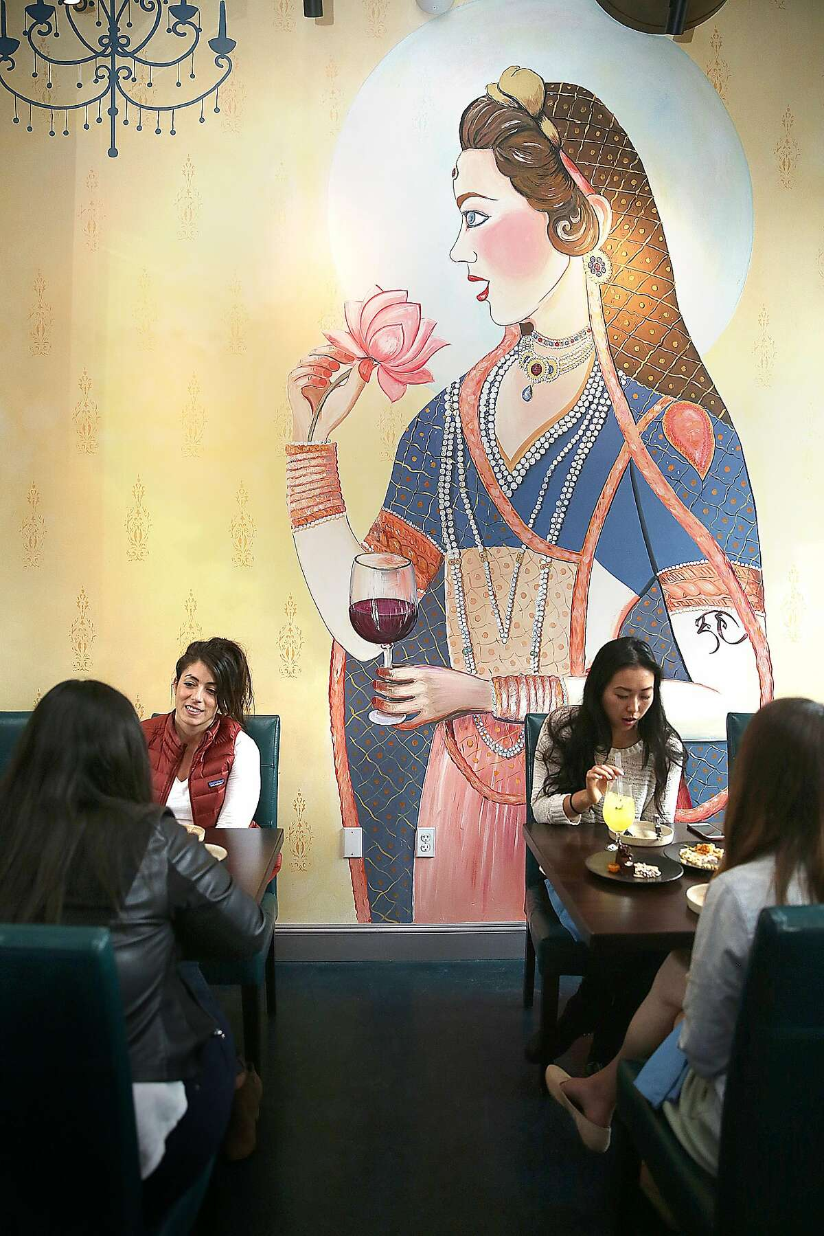 View of mural at Rooh on Tuesday, April 18, 2017, in San Francisco, Calif.