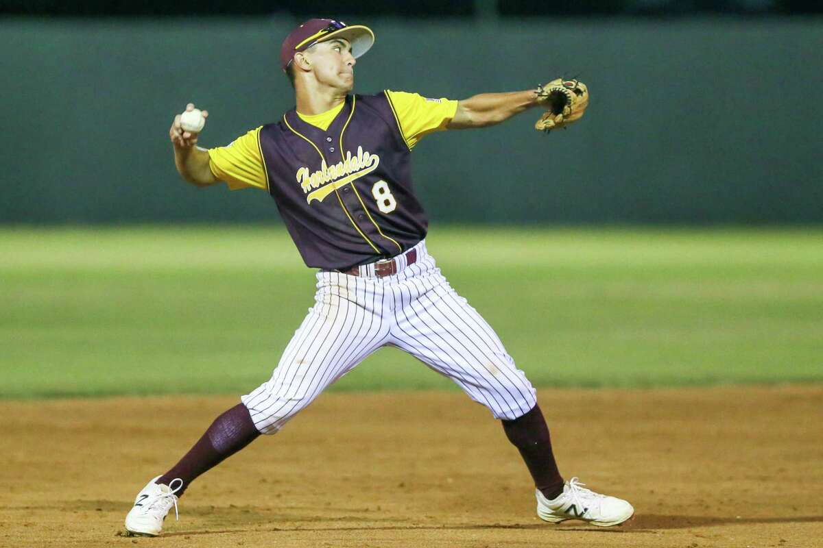 Charlie Migl is committed to offering opportunities to athletes from his home region, such as St. Mary's baseball player Shawn Tober of Harlandale. Tober is shown pitching for Harlandale in a 2017 game.