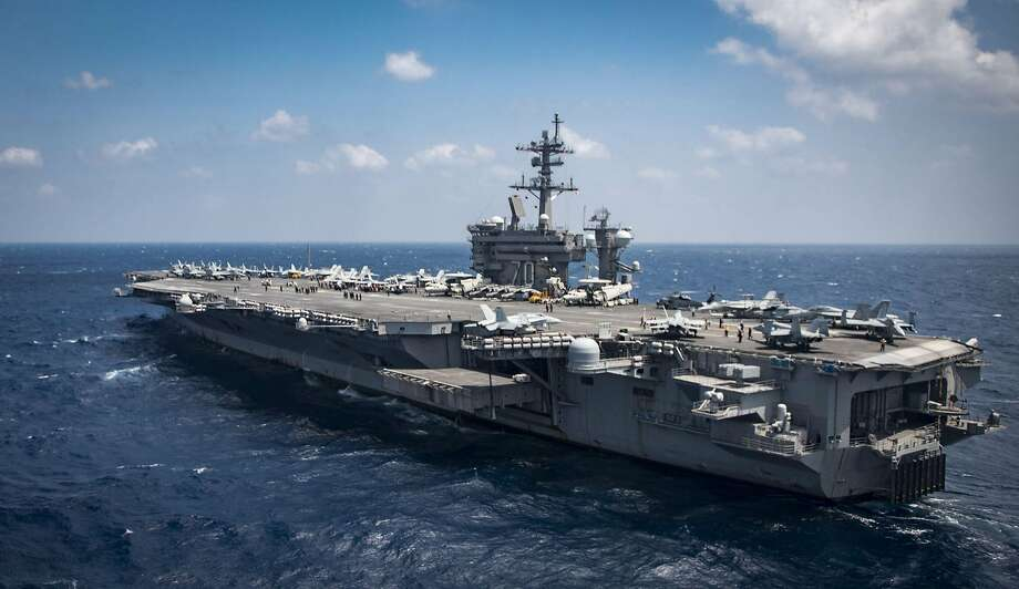 The aircraft carrier Carl Vinson is expected to arrive off the Korean Peninsula by Tuesday. Photo: MC3 BRENTON POYSER, AFP/Getty Images