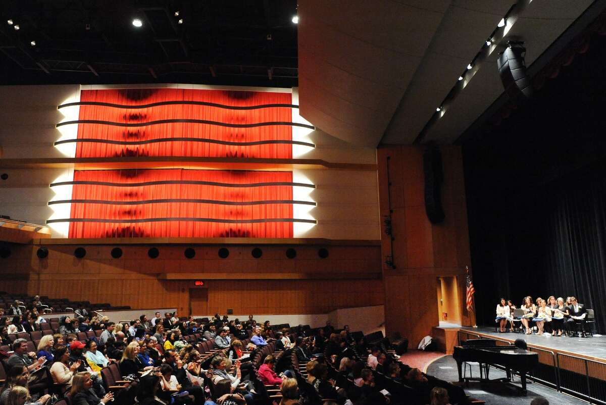 The Greenwich Public Schools Distinguished Teachers Awards Ceremony at the Greenwich High School Performing Arts Center, Conn., Tuesday, May 3, 2016.