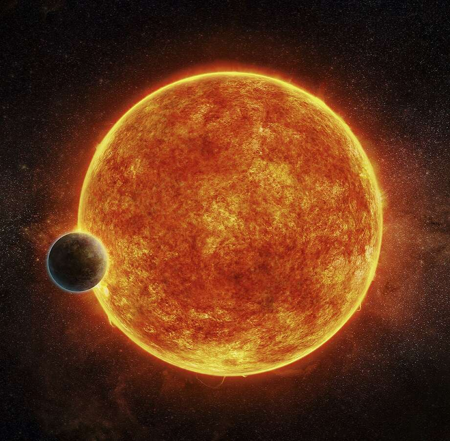 An artist's rendering shows the newly discovered rocky exoplanet, LHS 1140b. Photo: M. Weiss, Associated Press