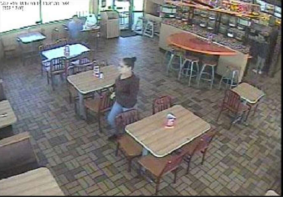 Pictured is a woman who allegedly stole a man's cell phone at a Popeyes Louisiana Chicken on Friday.