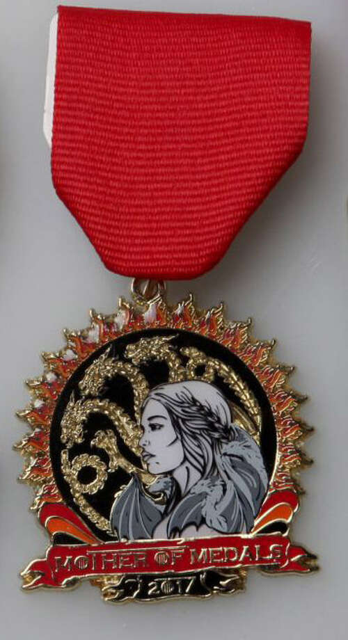 "Christina Lumbreras' ""Mother of Medals"" featuring ""Game of Thrones."" Photo: Juanito M Garza /San Antonio Express-News"