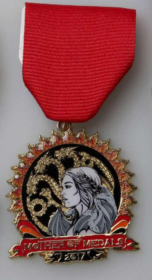 "Christina Lumbreras' ""Mother of Medals"" featuring ""Game of Thrones."" Photo: Juanito M Garza /San Antonio Express-News"