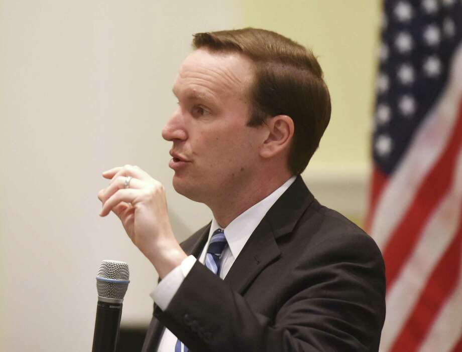 U.S. Sen. Chris Murphy speaks at the Greenwich Retired Men's Association's weekly speaker series at First Presbyterian Church in Greenwich, Conn. Wednesday, April 19, 2017. Sen. Murphy answered questions about the state of the state and political changes under President Trump. Photo: Tyler Sizemore / Hearst Connecticut Media / Greenwich Time