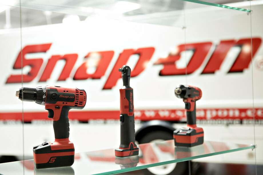 Tools sit on display in a demonstration area at Snap-On Tools Corp. headquarters in Kenosha, Wisconsin. President Trump spoke at the plant about his executive order while making changes to a visa program that brings in high-skilled workers to the U.S. Photo: Daniel Acker, Bloomberg