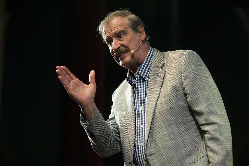Vicente Fox, former President of Mexico, has choice words for President Trump and his policies at a Commonwealth Club speech.