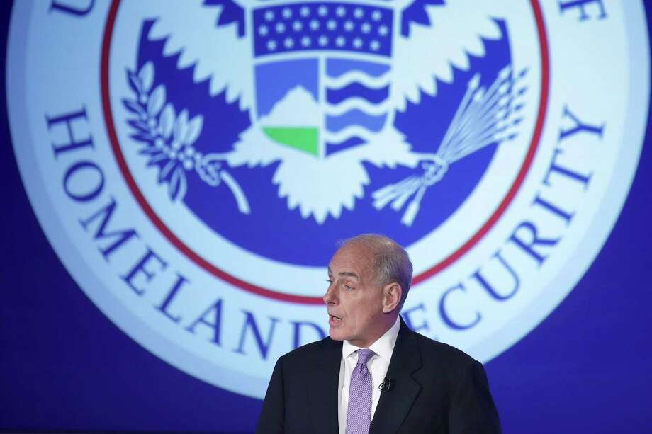 U.S. Homeland Security Secretary John Kelly delivers his first public remarks Tuesday since being appointed by President Donald Trump at George Washington University in Washington.  (Photo by Chip Somodevilla/Getty Images) Photo: Chip Somodevilla, Staff / 2017 Getty Images