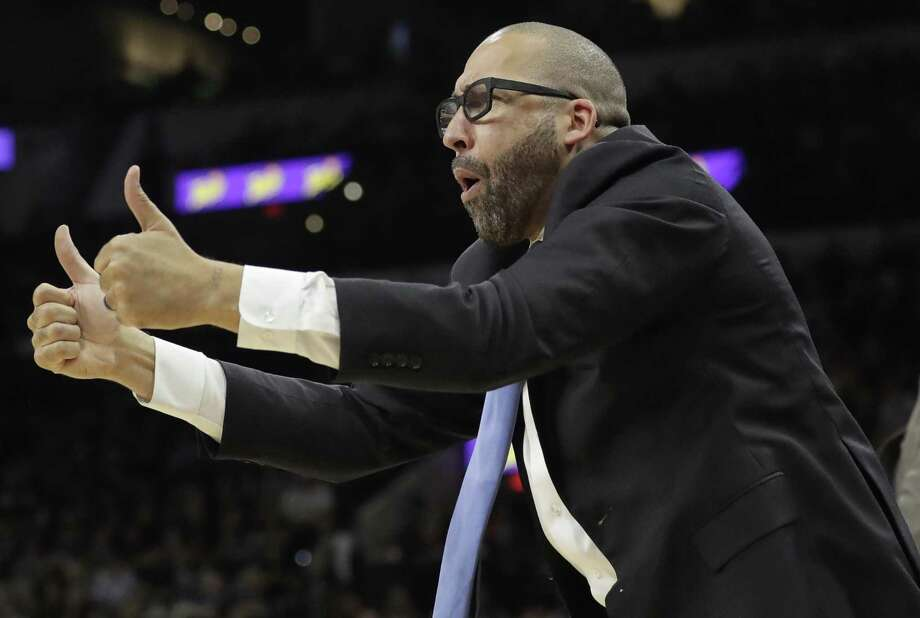 Memphis Grizzlies coach David Fizdale directs his team during the second half in Game 2 of a first-round playoff series against the Spurs on April 17, 2017, in San Antonio. San Antonio won 96-82 Photo: Eric Gay /Associated Press / Copyright 2017 The Associated Press. All rights reserved.