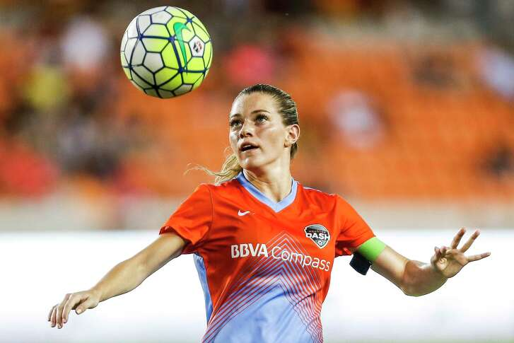Dash forward Kealia Ohai's concentration is evident as she looks to control a ball during a match against Western New York last season. Ohai has a pair of goals in nine matches this season.