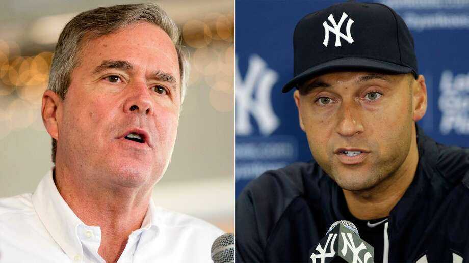 Jeb Bush, Derek Jeter Photo: Split Photo