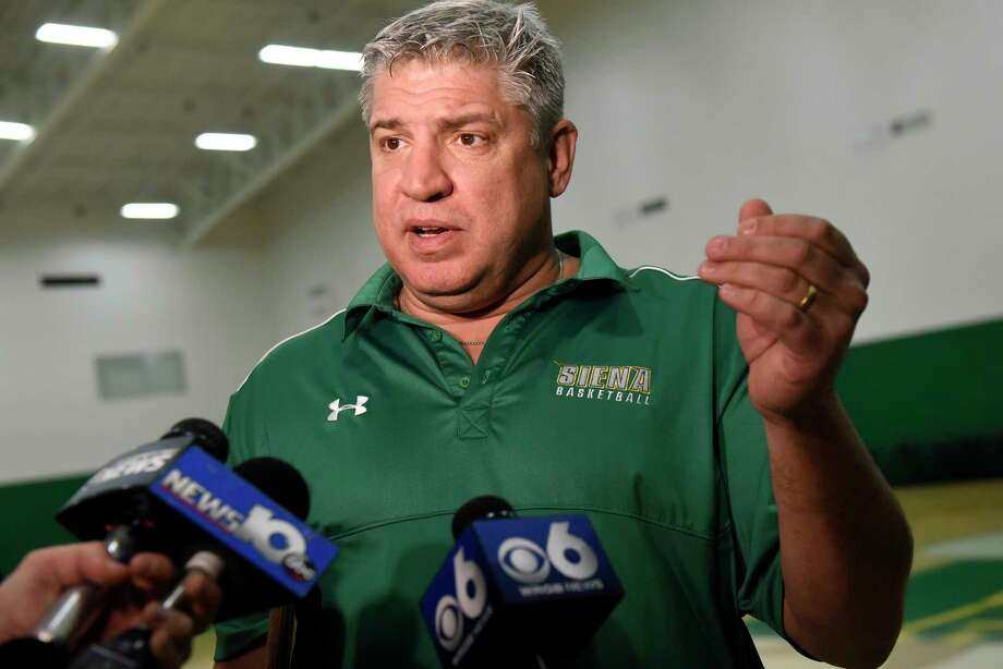Siena coach Jimmy Patsos talks with the media about Sunday's basketball game against crosstown rival UAlbany on Friday, Nov 25, 2016, at Siena College in Loudonville, N.Y. (Cindy Schultz / Times Union) Photo: Cindy Schultz / Albany Times Union