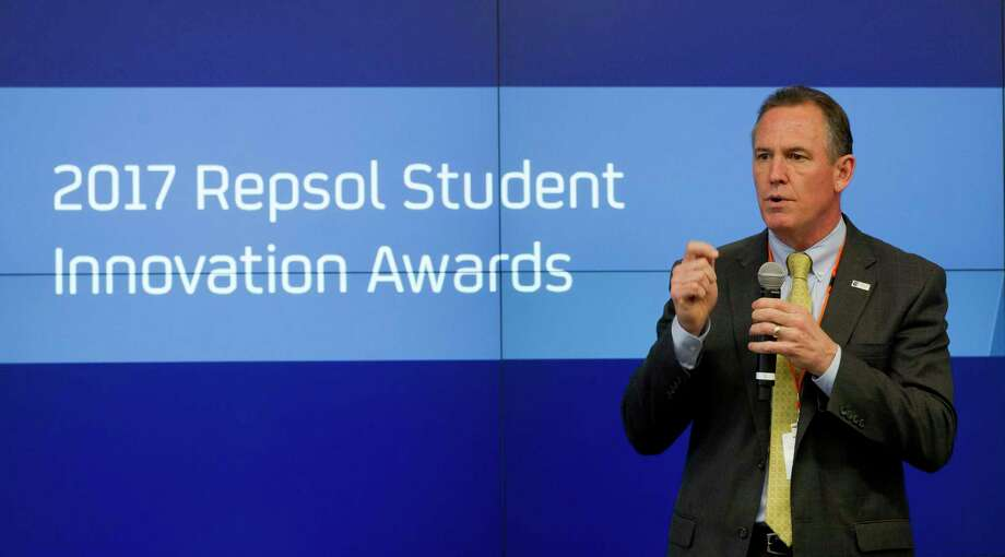 Conroe ISD Superintendent Don Stockton speaks during the inaugural Repsol Student Innovation Awards, Wednesday, April 19, 2017, in The Woodlands. Photo: Jason Fochtman, Staff Photographer / © 2017 Houston Chronicle