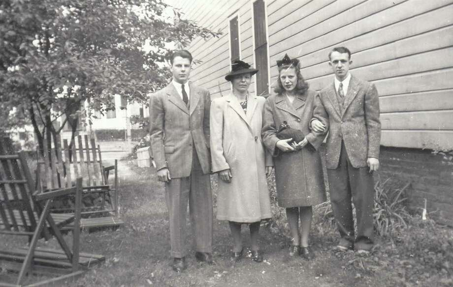The Murawski family in October 1942. From left to right, Anthony, Stanislawa, Anna and Stanley. War-time letters between Anthony, Stanley and Anna depict Albany during World War II and are posted to a website maintained by John Murawski, who is Anthony's son. (Contributed photo.)