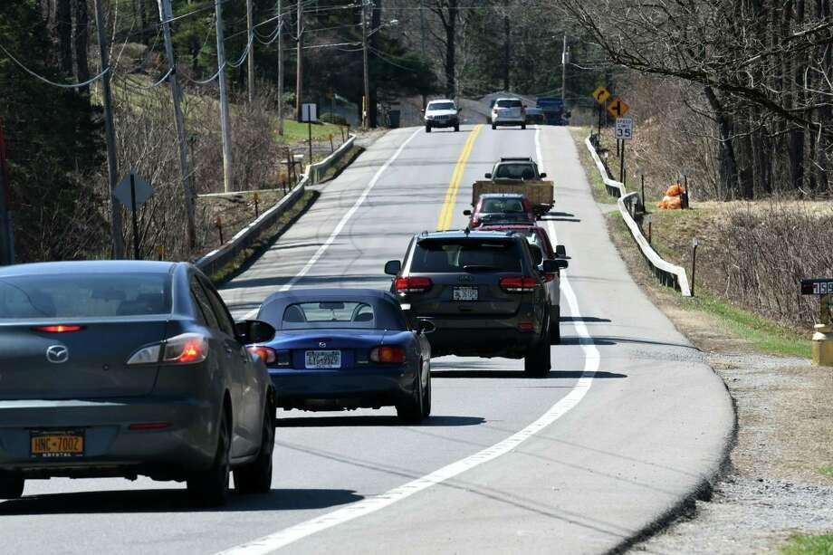 Traffic on Geyser Road west of Geyser Road Elementary School on Friday, April 14, 2017, in Saratoga Springs, N.Y. (Will Waldron/Times Union) Photo: Will Waldron / 20040260A