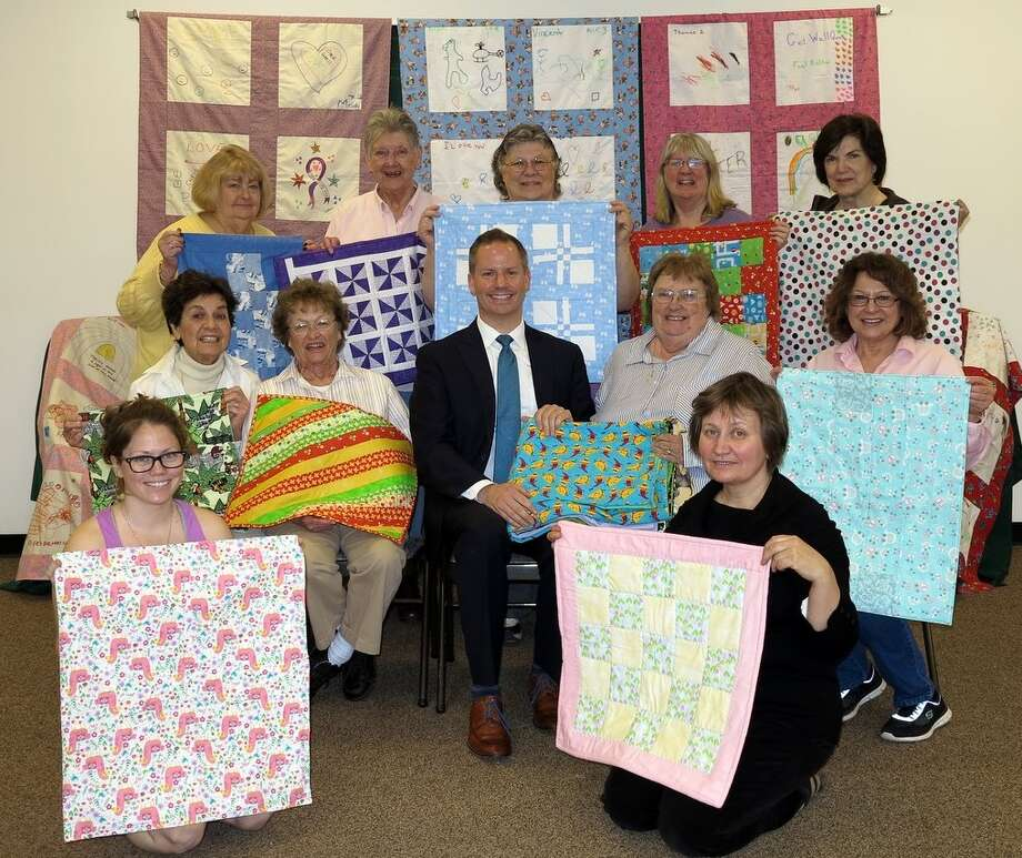 The Patchworkers quilting group of Windham, Greene County, was contacted by to James Kellerhouse of Albany Medical Center to see if it could make quilts for the neo-natal and pedriatric cancer units and the quilters rose to the occasion. (Pat Pelham) Photo: Picasa