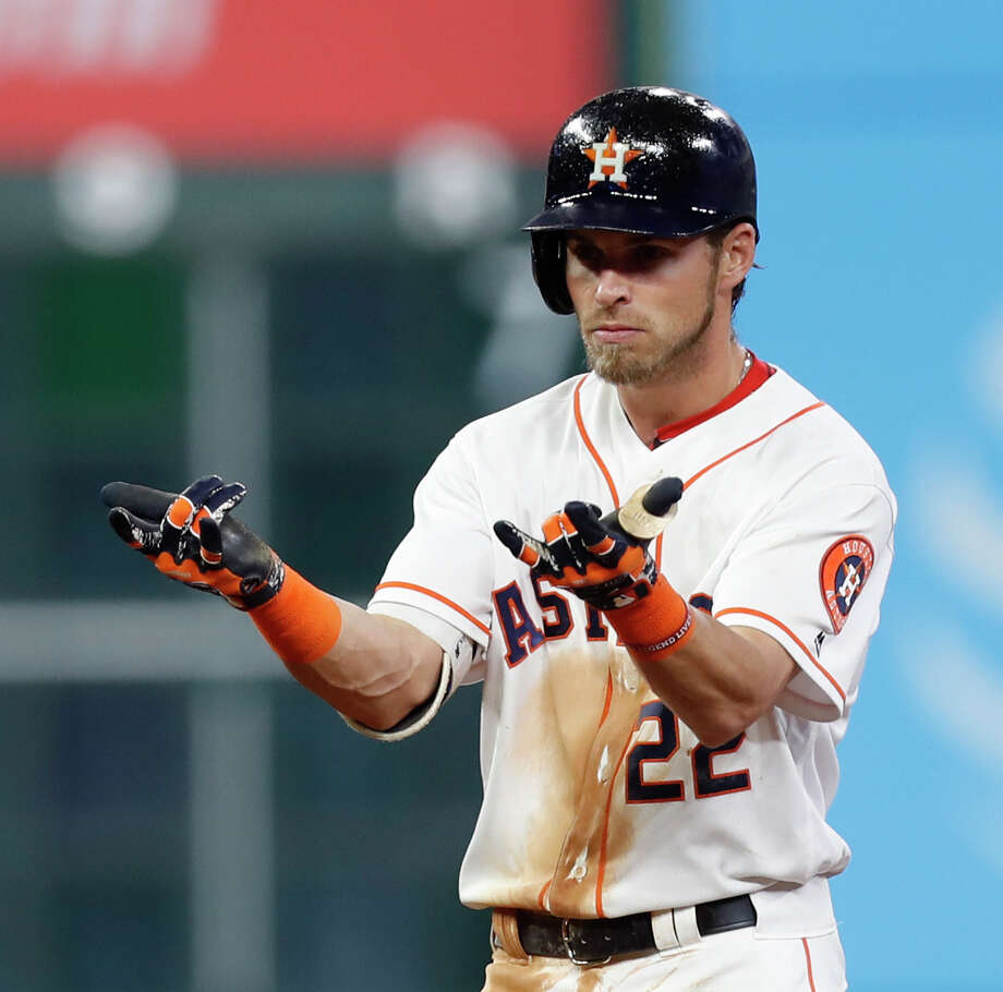 Astros outfielder Josh Reddick was given Thursday off a day after finishing a single shy of the cycle against the Angels. Photo: Karen Warren, Staff Photographer / 2017 Houston Chronicle
