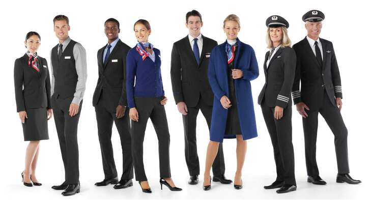 Some of American Airlines' new uniforms.