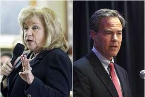 Left: Sen. Jane Nelson. Right: Texas House Speaker Joe Straus.