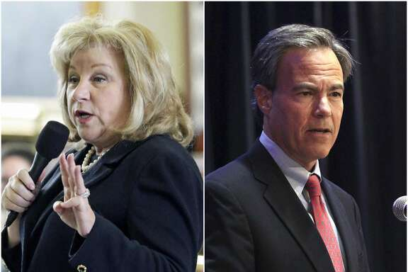 Left: Sen. Jane Nelson. Right: Texas House Speaker Joe Straus.