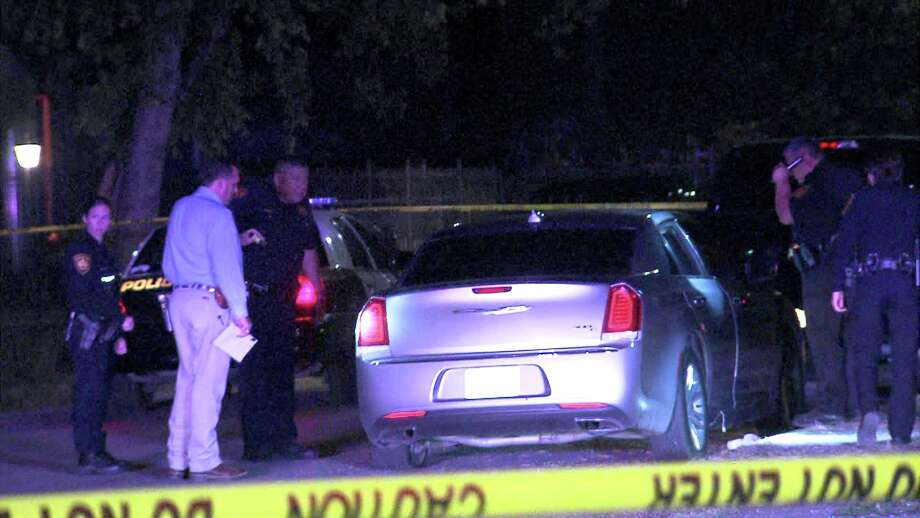 Officers responded to the shooting around 11:50 p.m. on April 19, 2017, near Castroville Road and General McMullen Drive, where they found the victim, who is around 15 or 16 years old, lying in the grass next to a car with a bullet hole in it. Photo: Ken Branca