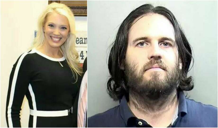 Bethany Tinderholt is accusing an Arlington City Council candidate Matthew James Powers, 35, (right) of harassment. Photo: Courtesy/Arlington Police Department