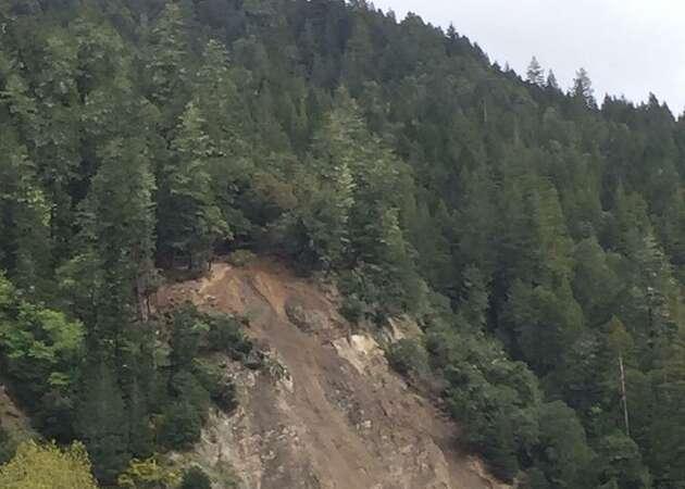 Landslide closes Highway 101 in Mendocino County