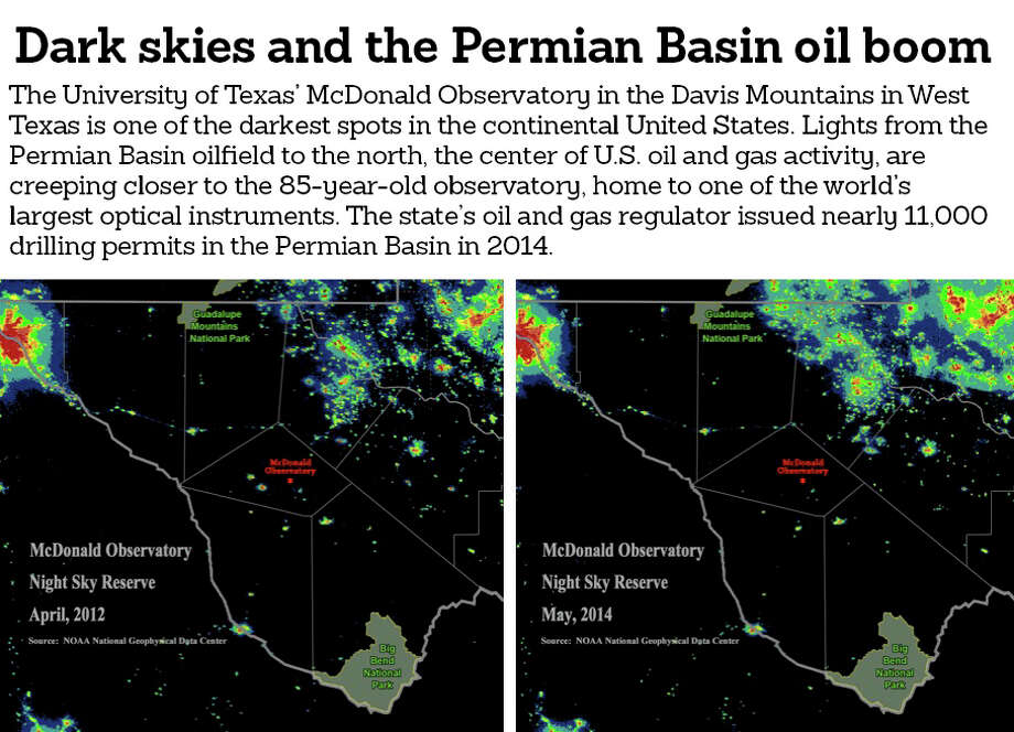 The Woodlands Texas Flooding >> Oil field sky glow a looming issue for West Texas observatory - Houston Chronicle