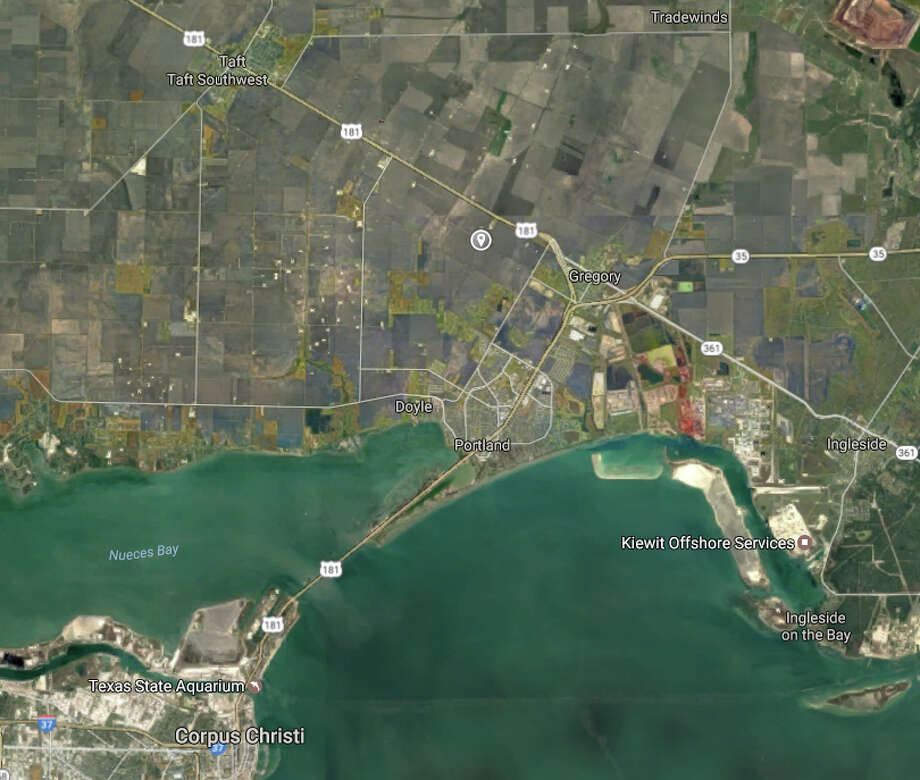 Proposed site of Exxon petrochemical plant just west of Gregory. Photo: Google Maps
