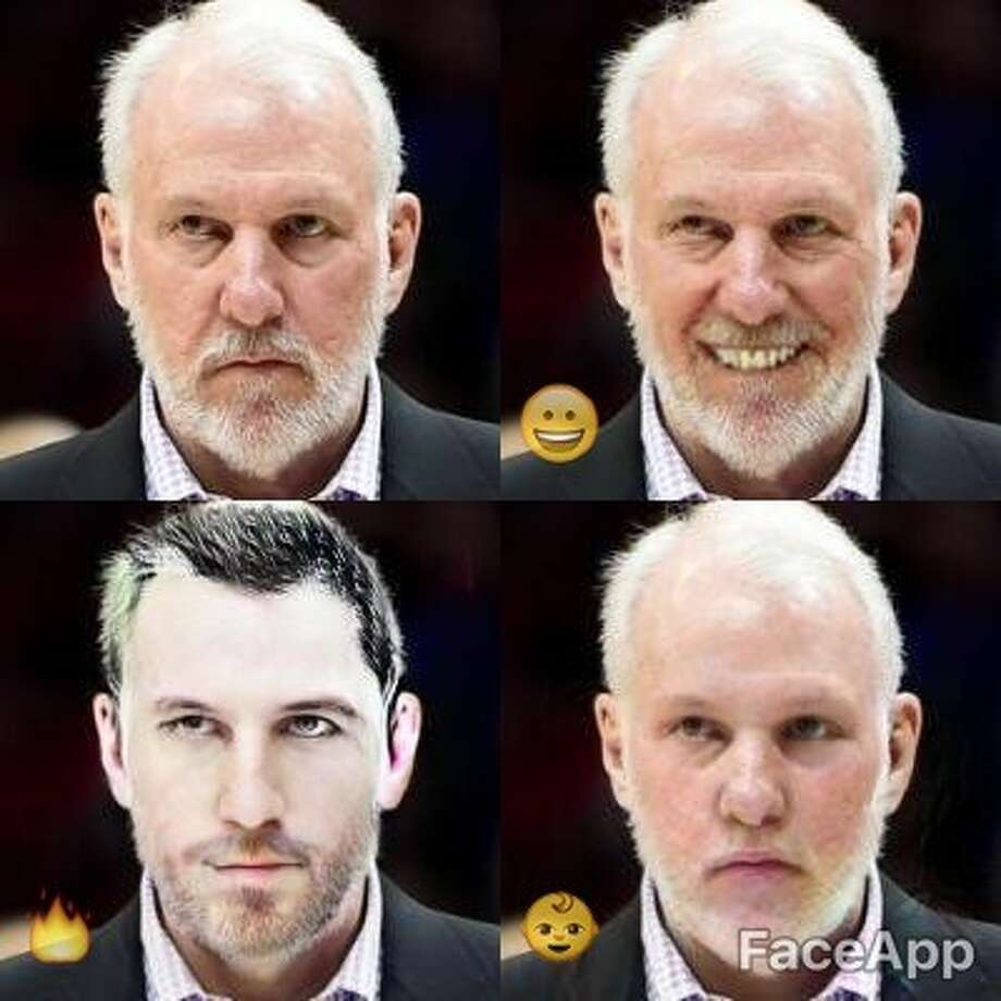 Gregg Popovich  Photo: FaceApp