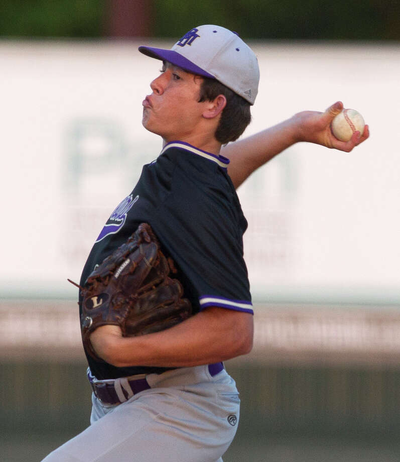 Montgomery relief pitcher Keaton Bussell plays for Montgomery High School's baseball team in 2017. Bussell was among three people killed in a Thursday morning car accident in Grimes County. Photo: Jason Fochtman/Houston Chronicle